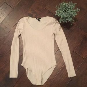 Scoop Neck Long Sleeve Bodysuit
